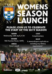 Women's 2019 Season Launch - Wednesday 24th April