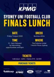 2020 KPMG Finals Lunch | Tickets on sale now!