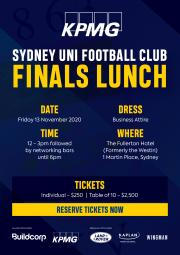 KPMG FINALS LUNCH | New Date - Friday 13th November