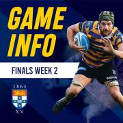 FINALS SERIES | Week 2 - Tickets & match timings