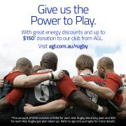 Give us the power to play. An easy way to fundraise from AGL.