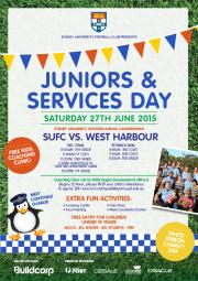 Join SUFC at their next home game for Juniors and Services Day