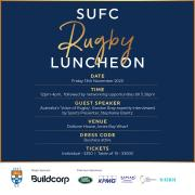 SUFC Rugby Luncheon | Tickets available