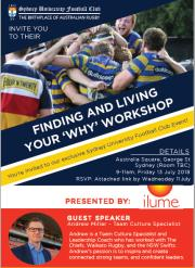 FINDING AND LIVING YOUR 'WHY' WORKSHOP – Friday 13th July