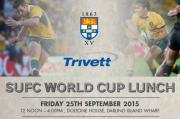 Trivett SUFC Rugby World Cup lunch now on sale!
